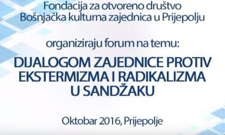 """BKZ organizira forum """"Dijalogom zajednice protiv ekstremizma i radikalizma u Sandžaku"""""""